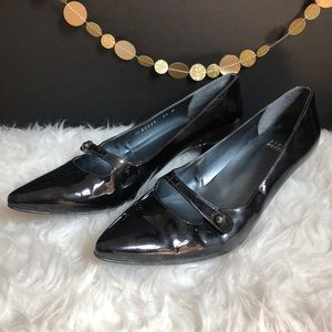 Stuart Weitzman Dark Green Patent Leather Heels